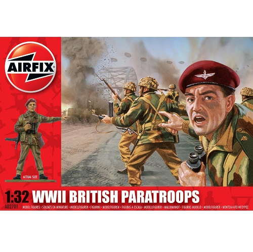 Airfix 02701 - WWII British Paratroops Figure Set - Scale 1.32