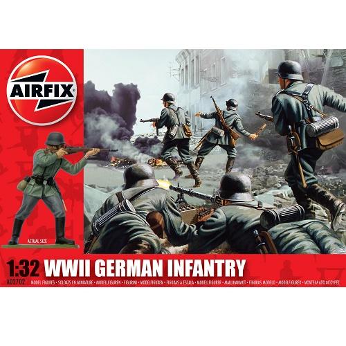 Airfix 02702 - WWII German Infantry Figure Set - Scale 1.32