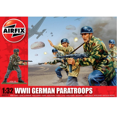 Airfix 02712 - German (WWII) Paratroopers - Scale 1.32