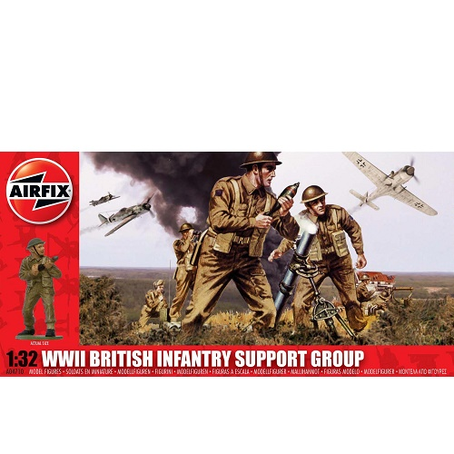 Airfix 04710 - British (WWII) Infantry Support Group - Scale 1.32