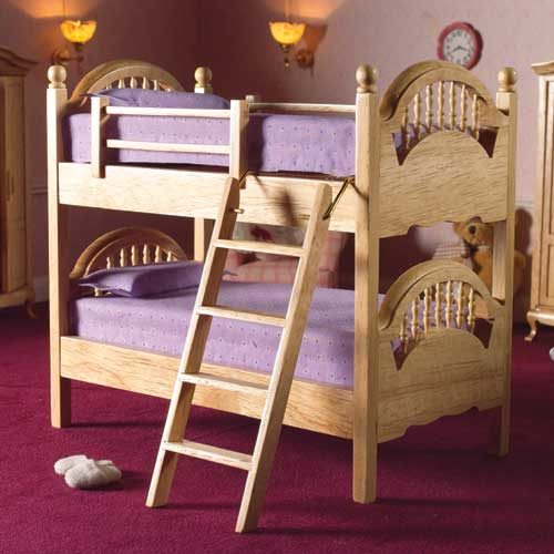 Dolls House Natural Bunk Beds Rb Models