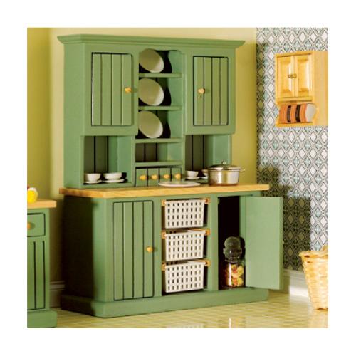 Furniture 3137 - Green Smallbone Dresser with Baskets