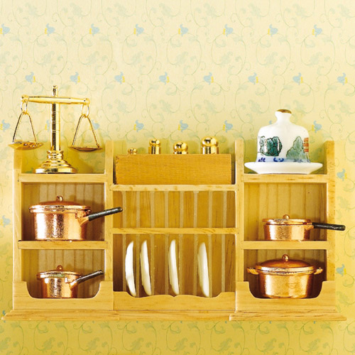 Furniture 3536 - Wall Shelf with plate rack