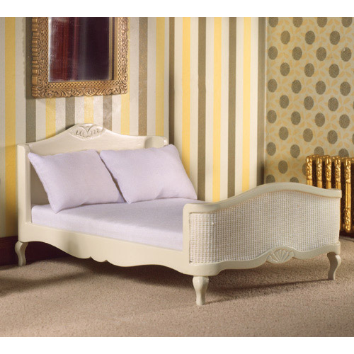 Furniture 5631 - French Style Cream Double Bed