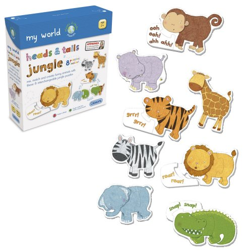GIB1002 - Heads & Tails Jungle - 8 Puzzles - Age 18m+ a