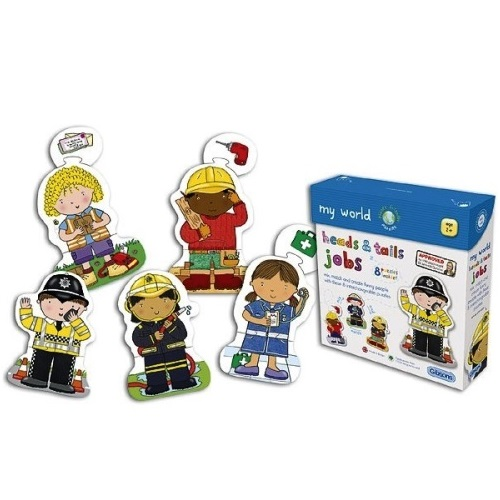 GIB1011 - Heads & Tails Jobs - 8 Puzzles - Age 2+