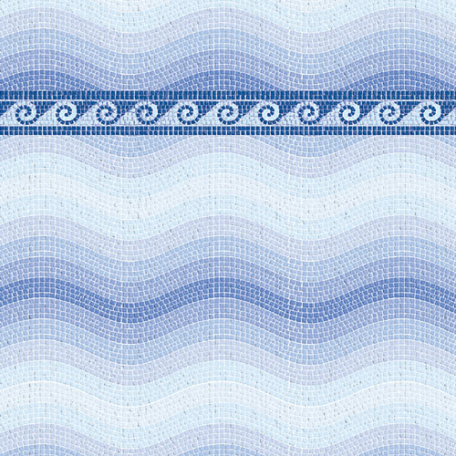 Wallpaper 5041 - Blue Mosaic Paper