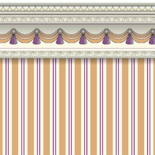 Wallpaper 6106 - Sand Regency Stripe Wallpaper