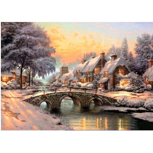GIB415 - Cobblestone Christmas - 1000 Pce c