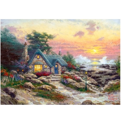aGIB6081 - Cottage by the Sea - 1000 Piece Puzzle