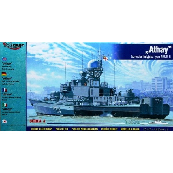 Mirage 40427 - ATHAY Indian Navy PAUK II Corvette - Scale 1.400a