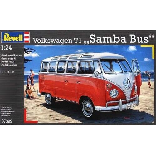 revell volkswagen t1 samba bus scale 1 24 rb modelsrb. Black Bedroom Furniture Sets. Home Design Ideas