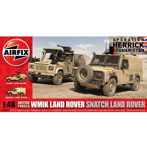 Airfix 06301 - British Force WMIK Land Rover Snatch Land Rover - Scale 1.48 - Copy