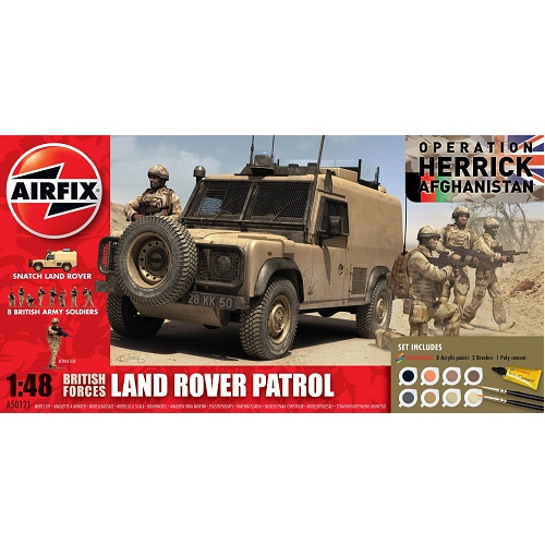 Airfix 50121 British Forces - Land Rover Patrol (Operation Herrick) - 1.48