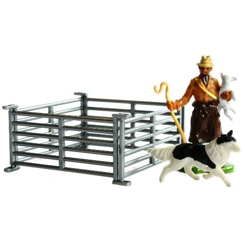 Britains 42736 - Shepherd with Sheepdog & Hurdles - Scale 1.32