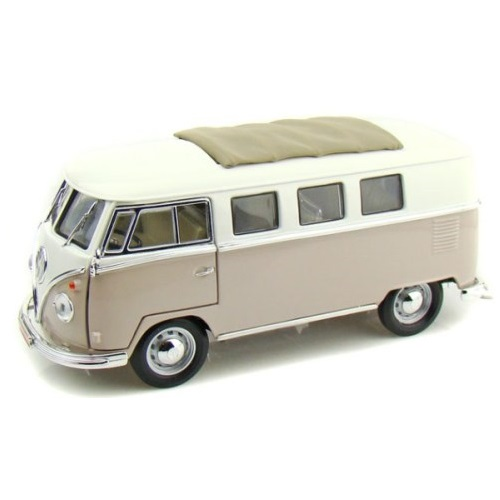 Road Sig 92327- 1962 Volkswagen Microbus With Retractable Roof Cream - Scale 1.32