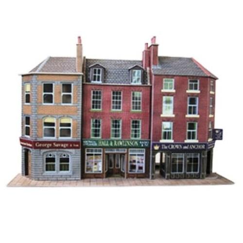 Metcalfe PO205 - Low Relief Pub and Shop - 00 Gaugea