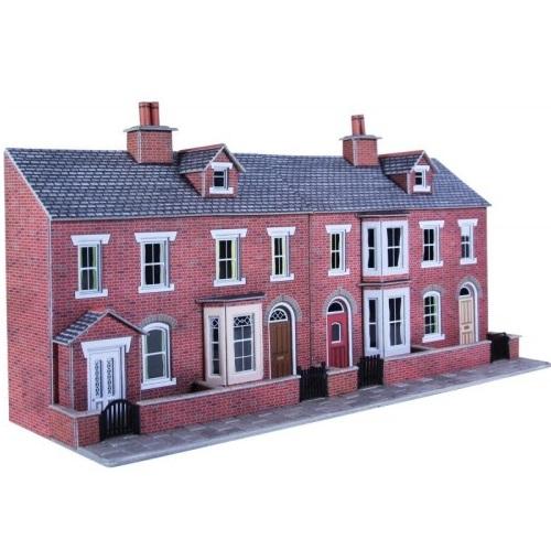 Metcalfe PO274 - Low Relief Red Brick Terraced Houses - 00 Gauge