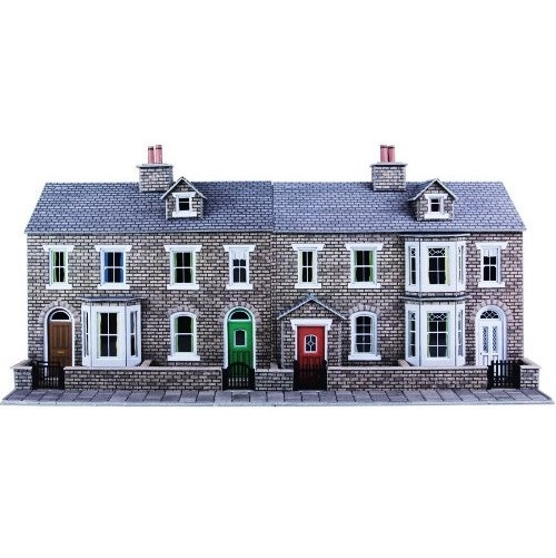Metcalfe PO275 - Low Relief Stone Terraced House - 00 Gauge