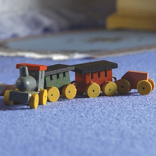 4163 - Wooden Train & Three Carriages