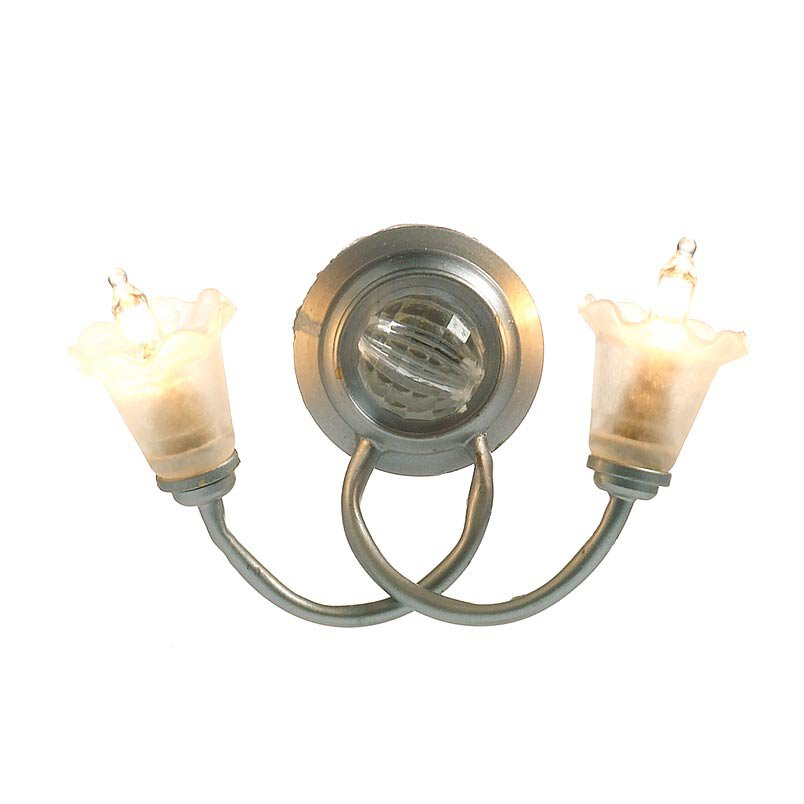 5360 - Double 'Silver' Wall Light