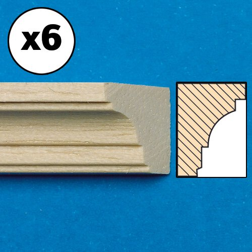 7017 - Unvarnished Lightwood Cornice, mitred, 6 pieces