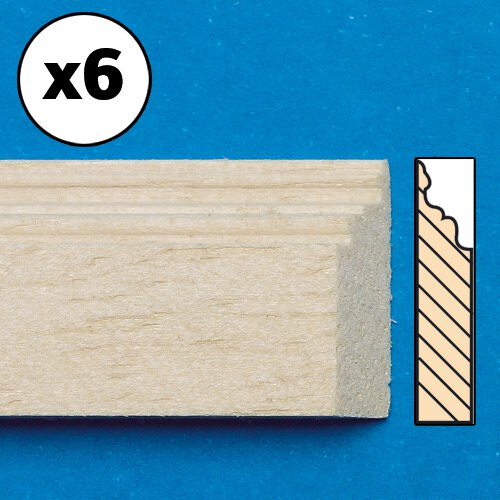 7018 - Unvarnished Lightwood Skirting Board, mitred, 6 pieces