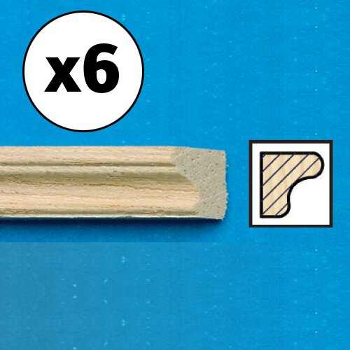 7023 - Unvarnished Lightwood Picture Rail, mitred, 6 pieces