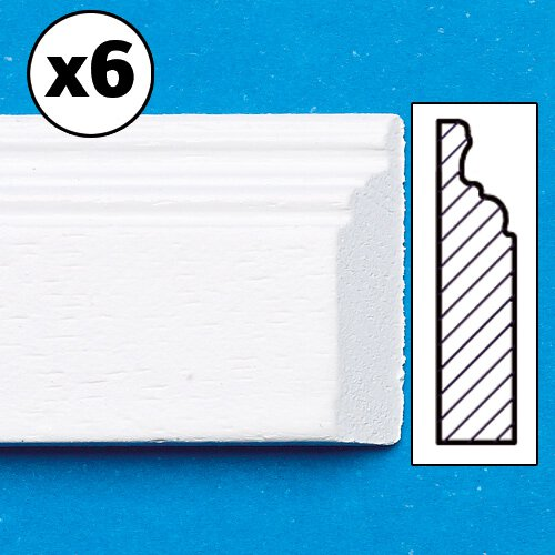 7172 - White Painted Skirting Board, mitred, 6 pieces