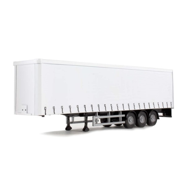 Corgi 19910 - Tri Axle Curtainside Trailer - White