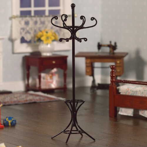 2897 - Black coat stand and umbrella stand. 150 x 50 x 50mm