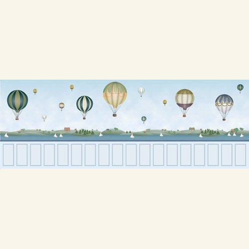 7027 - Balloon Mural Nursery Wallpaper