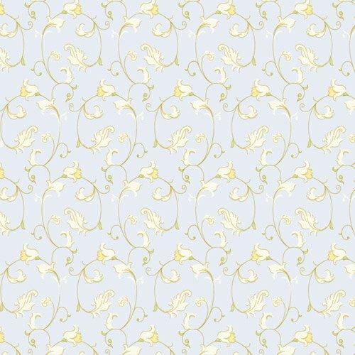 8226 - Blue Creeping Vine Wallpaper