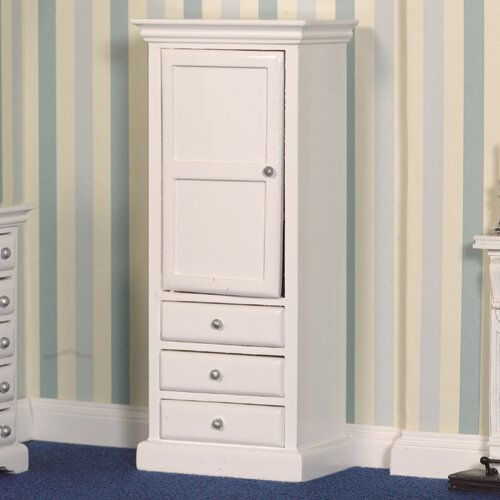 2758 - White Cupboard & Drawers