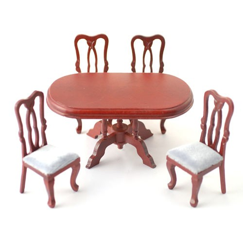 DF126M - Oval Table with 4 Chairs