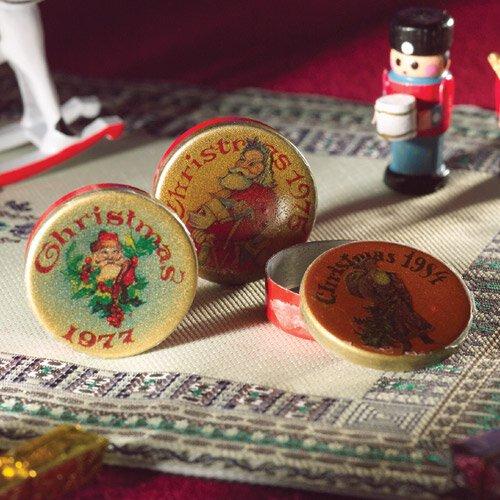 3868 - Christmas Tins, 3 pcs