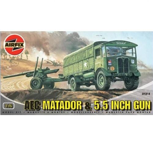 Airfix 01314 MATADOR & GUN  - Scale 1.76