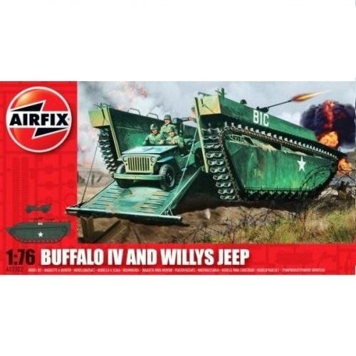 Airfix 02302 - Buffalo 1V and Willy's Jeep - 1.76