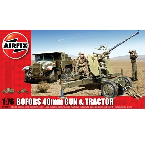 Airfix 02314 - 40mm Bofors Gun and Tractor - 1.72