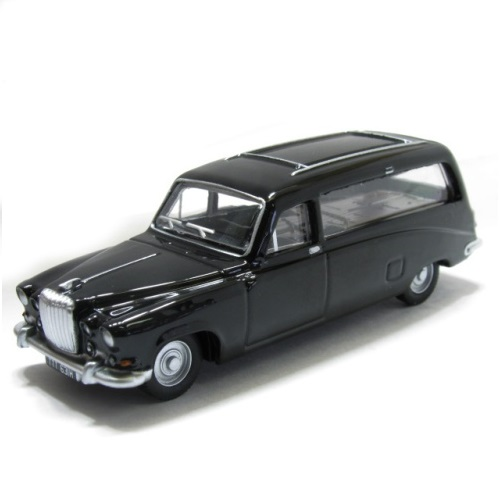 Oxford DS002 - Daimler DS420 Black Hearse - (1.43)a