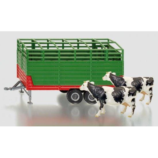 Siku 2875 - Cattle Trailer & Cows - Scale 1.32