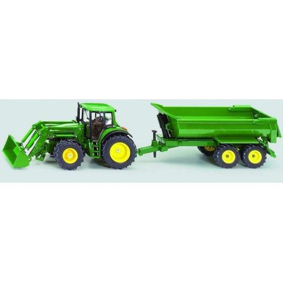 Siku 3863 - John Deere with tipping trailer -