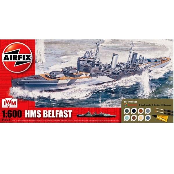 Airfix 50069 - HMS Belfast Gift Set - Scale 1.600