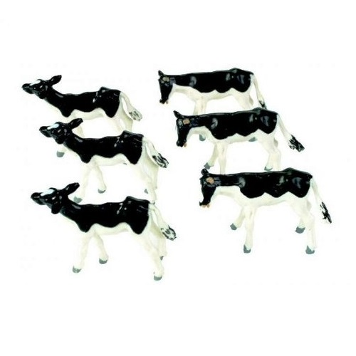 Britains 40960  - Pack Of 6 Friesian Calves  -  Scale 1.32