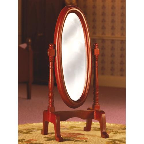 Furniture 2113 - Wooden Cheval Mirror