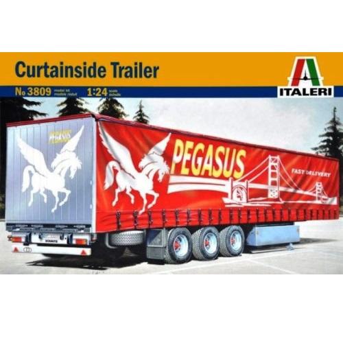 Italeri 3809 - Pegasus Curtainside Trailer - Scale 1.24