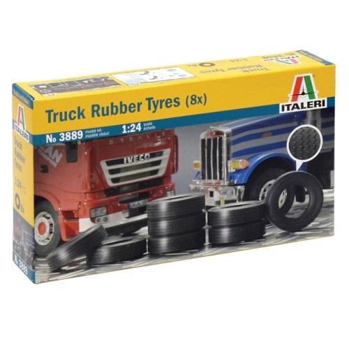 Italeri 3889 -  Truck Rubber Tyres - Scale 1.24