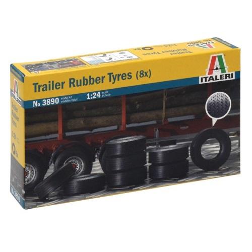 Italeri 3890 - Trailer Rubber Tyres - Scale 1.24