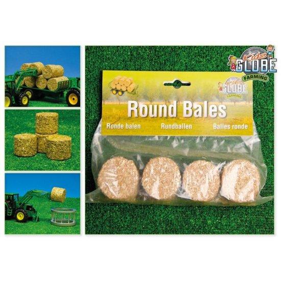 Kids Globe 0703 - Round Bales (Set of 4) - Scale 1.32
