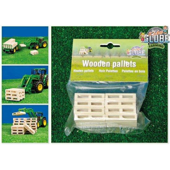 Kids Globe 0761 - Wooden Pallets - Set of 8 - Scale 1.32